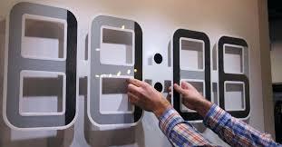 digital office wall clocks digital. Battery Powered Clocks Digital Office Wall Large Operated Prepossessing . E