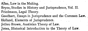 juristhoughts in 1953 he was asked to write a short survey about jurisprudence in britain his essay contains a list of leading jurisprudential books used in british