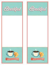 breakfast menu template breakfast menu template world of printable and chart