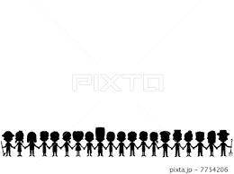 人物イラストのシルエットのイラスト素材 7754206 Pixta
