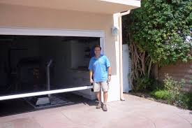 diy retractable garage door screen