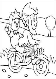 Kids N Fun Kleurplaat Noddy Noddy En Groot Oor Op De Fiets