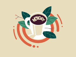 good morning sticker vector fun cute mondayschallenge mondays morning tea coffee flat ilration gif