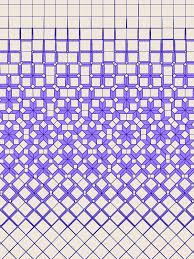 Crazy Graph Paper Geometry In Color