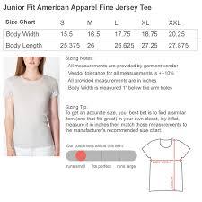 Junior T Shirts Size Chart The Latest Shirt Models 2018