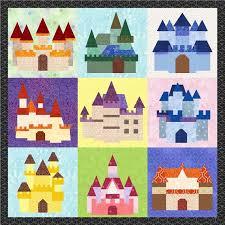 19413 best Quit blocks, images on Pinterest | Crafts, Patterns and ... & Fairy Tale Castles - 9 Quilt Block Patterns - Foundation Paper Piece Patch  - PDF Download Adamdwight.com