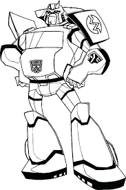 Transformers Coloring Sheet Transformers Animated Bumblebee Coloring