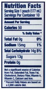 capri sun tropical punch juice drink nutrition facts