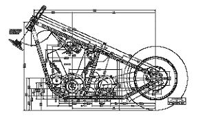 all chopper frame plan views and features