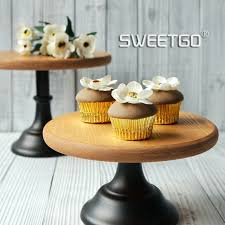 Coffee Shop Display Stands Online Shop Wood Cake Stands Vintage Wedding Cake Decoration Home 38