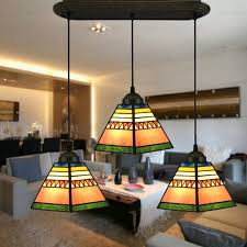 Three Light Tiffany Style Dinning Room Pendant Lighting Great Pictures
