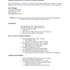 Resume For College Students With No Work Experience Listmachinepro Com