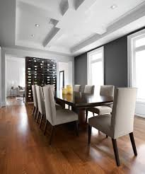 Wall Wine Rack Dining Room Contemporary with Architectural Ceiling Beige  Dining