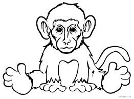 Monkey Coloring Sheet Interactive Christmas Coloring Pages