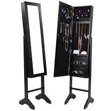 Mirrored Jewelry Cabinet Armoire Black Mirrored Jewelry Cabinet Armoire Mirror Organizer Storage