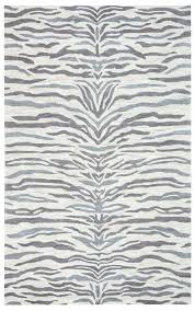rizzy rugs gray zebra striped rows contemporary area rug animal print vn9649