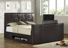 athena real leather king size tv bed inc 26 led tv