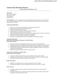 Construction Estimator Resume Sample 10 Construction Estimator Resume Student Aid Services
