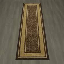 frnt rug runners with non skid backing ottomanson ottohome collection contemporary bordered design modern runner rubber