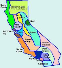 California Regions Camping Regions Of California