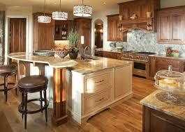 white kitchen island in natural wood design