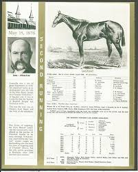 Kentucky Derby Race Chart 1876 Vagrant Kentucky Derby Winner Race Chart Owner