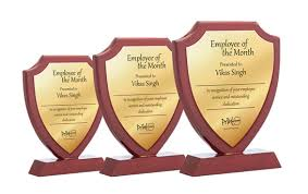 Employee Of The Month Trophy Wooden Trophy 3