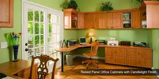 home office solutions. Raised Panel Office Cabinets With Candlelight Finish | Custom Closet Systems Home Solutions T
