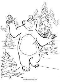 Masha E Orso Natale Da Colorare Disegni Da Colorare