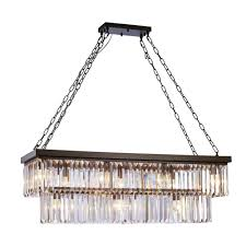 antique bronze and crystal 11 light chandelier