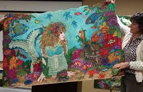 Mermaid Quilt | Martha Ressler & An Original Voice » Mermaid Quilt Adamdwight.com