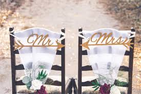 Wooden wedding chair decorations