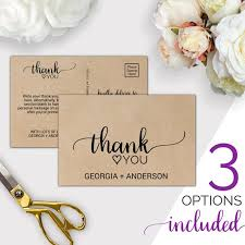 Wedding Thank You Notes Templates Wedding Thank You Template Rustic Thank You Cards Printable