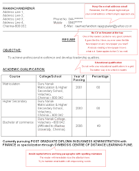 How To Make A Cv Resume For Freshers - Resume Cv Template Examples