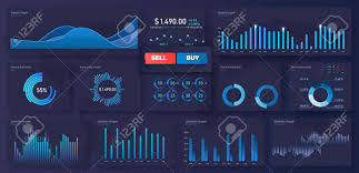 Modern Modern Infographic Vector Template With Statistics Graphs