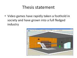 Research papers on video games
