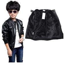 details about boy s trendy stand collar pu leather jacket moto jacket coat 2t 12t