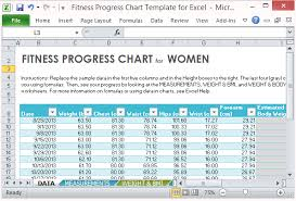 Workout Measurement Chart Fitness Progress Chart Template For Excel