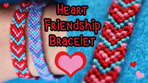 in this tutorial you ll learn to make a friendship bracelet with a heart design this bracelet uses 3 colors one for the outline of the heart