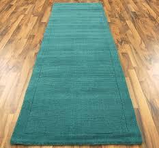 york teal runner rug