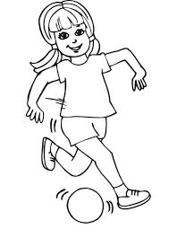 Small Picture Coloring page of girl