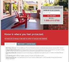 this picture shows marketers how travelers uses an insurance landing page to generate home insurance leads