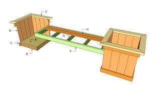 planter bench plans myoutdoorplans