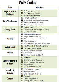 Daily Chores Checklist Daily Chore Checklist For Family Of Four Amateur Parenting