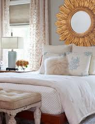 Mirror In The Bedroom Amazing Golden Sunburst Mirror In The Bedroom With White Bedding