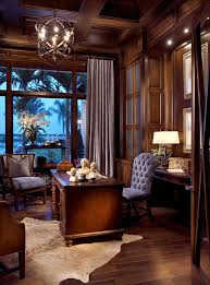 Home Office Elegant Traditional Home Office With Panelled Walls