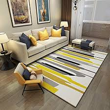 Striped area rug Navy Blue Image Unavailable Amazoncom Amazoncom Chezmax Modern Striped Area Rug Contemporary Geometric