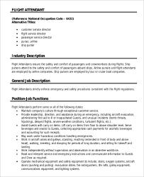 Flight Attendant Job Descripti