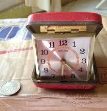 antique seiko travel alarm clock 2 jewels