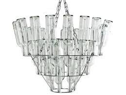 leitmotiv clear glass bottle chandelier